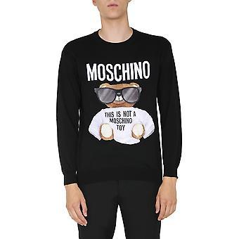 Moschino 090352010555 Männer's Schwarzer Baumwollpullover