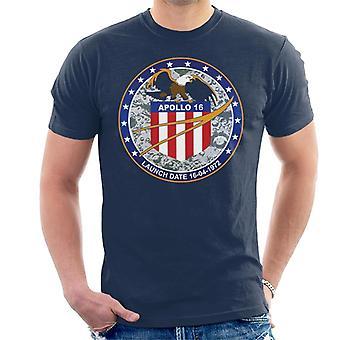 NASA Apollo 16 missie Badge mannen T-Shirt