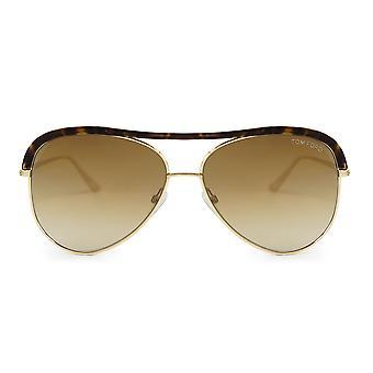 Tom Ford Sabine korytnačka aviator slnečné okuliare FT0606 28G