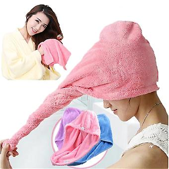 Towel Quick Dry Hair Hat Cap - Microfibre After Shower Hair Drying Wrap