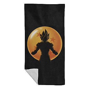 Saiyan Dragon Ball Silhouette Dragon Ball Super Beach Towel