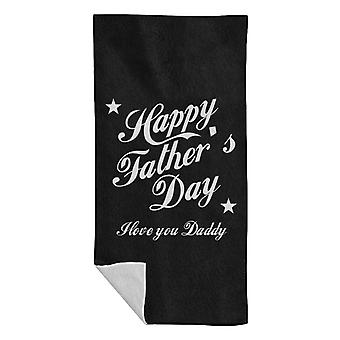 Happy Fathers Day I Love You Daddy Beach Towel