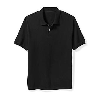 Essentials Men & apos&s Big & Tall Cotton Pique Polo Shirt الذي يناسب DXL, Black,...
