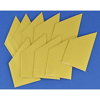 10 Pearlescent Gold Paper Hats for DIY Christmas Cracker Crafts