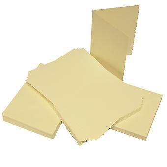 Craft UK Cards & Envelopes C6 Ivory Deckle