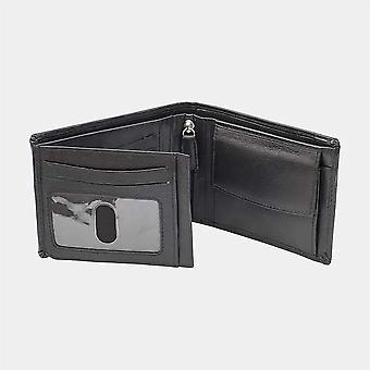 Primehide kolfiber och läder Mens Card Plånbok Säker RFID Blockering 9202