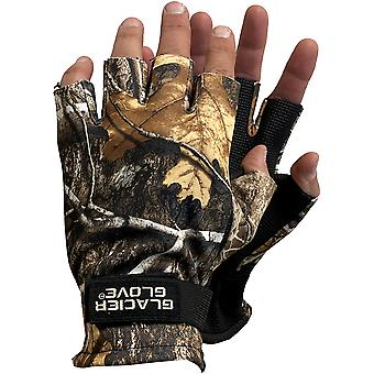 Glacier Glove Midweight Pro Hunter Windproof Fingerless Gloves - Realtree Camo