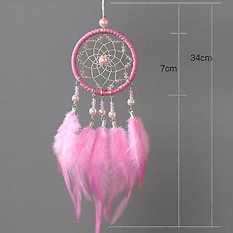 Led Handmade Feathers Dreamcatcher - Night Light Dreamcatcher Wall Hanging Home Room Decoration