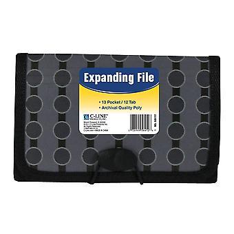 56412BNDL6EA, 13-Pocket Coupon Size Expanding File, Fashion Circle Series (Conjunto de 6 Archivos)