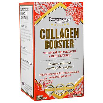 ReserveAge Nutrition, Collagen Booster with Hyaluronic Acid & Resveratrol, 60 Ca