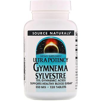 Fuente Naturales, Ultra Potencia Gymnema Sylvestre, 550 mg, 120 Tabletas