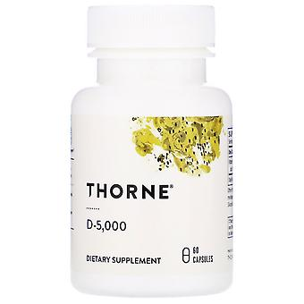 Thorne Research, D-5,000, 60 Capsules