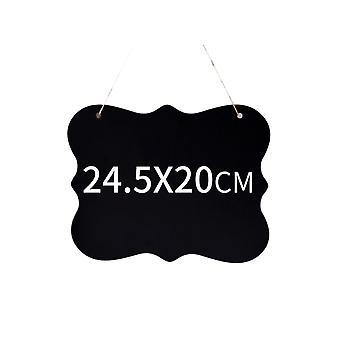 Dubbelsidig Chalkboard med hängande sträng 24.5x20CM