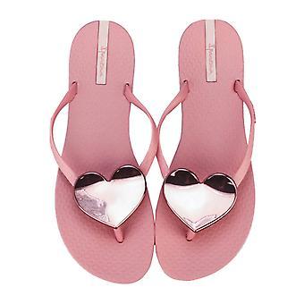 Kvinnor's Ipanema Maxi Heart Sandaler i rosa