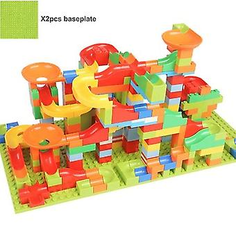 165/330pcs 3d Construction Marble Ball Track Building Blocks Bricks Set