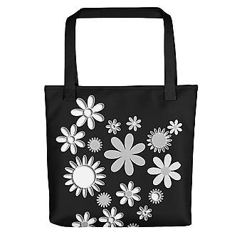 Small Tote Bag | B&W Flowers