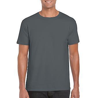 GILDAN G64000 Softstyle Men's T-Shirt in Charcoal