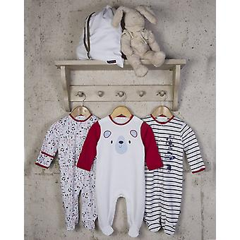 The Essential One Unisex Baby Bear Costume nautice Sleepsuits - 3 Pack