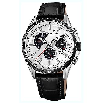 Festina chronograph watch for Analog Quartz Men with Cowhide Bracelet F20201/1