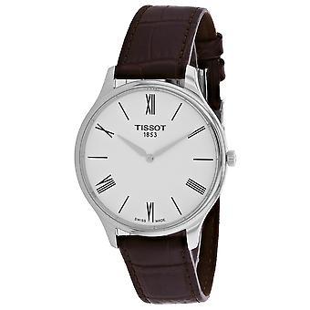 Tissot Hombres's Tradición Reloj de marcación blanca - T0634091601800