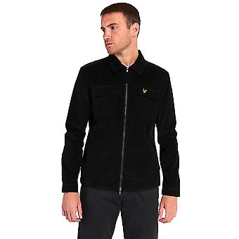Lyle & Scott Cord Overshirt - Jet Black