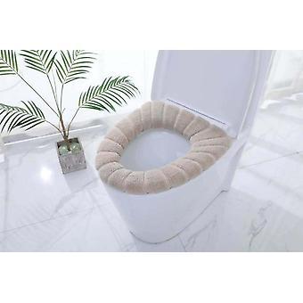 Gebreide wasbare pompoen patroon wc-bril kussen te dekken voor badkamer