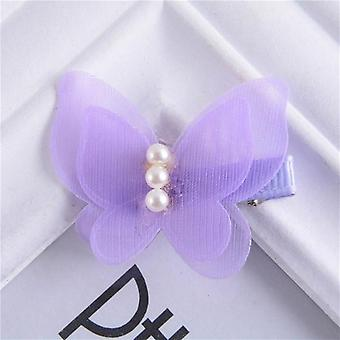 Butterfly Design, Princess Hair Clips For Baby