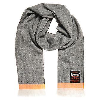 スーパードライ スーパーキャピタル スカーフ - グレー ヘリンボーン