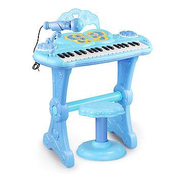 الأطفال البيانو لوحة المفاتيح متعددة الوظائف الإلكترونية التعليمية لعبة LED الإضاءة