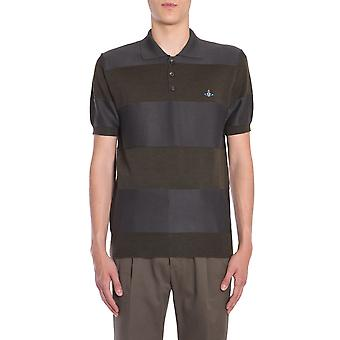 Vivienne Westwood S25ha0401s16429001f Men's Black Wool Polo Shirt