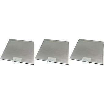 3 x Universal Cooker Hood Metal Grease Filter 320mm x 320mm