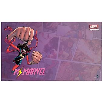 Marvel Champions Living Card Game Ms. Marvel Game Mat