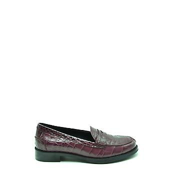 Tod's Ezbc025117 Women's Burgundy Leather Loafers