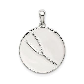 925 Sterling Silver och CZ Cubic Zirconia Simulerad Diamond Taurus Zodiac Hängande Halsband Smycken Gåvor för kvinnor