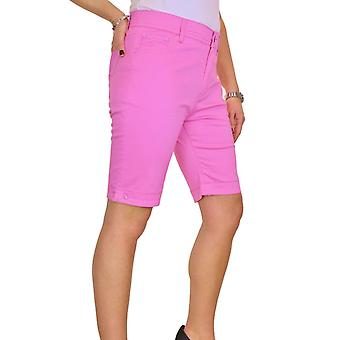 Women's Smart Stretch Chino Shorts Ladies Plus Size Summer Slim Fit Above The Knee Jeans Style Bermuda Shorts  14-24