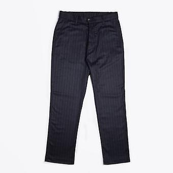 Barena  - Wool-Blend Pinstripe Trousers - Navy