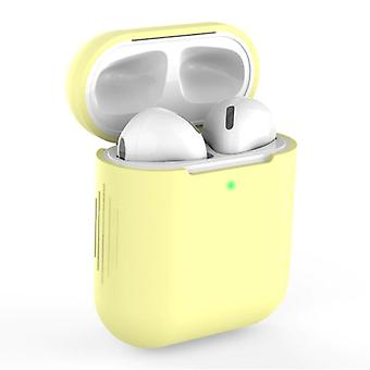 SIFREE Flexible Case for AirPods 1/2 - Silicone Skin AirPod Case Cover Flexible - Yellow
