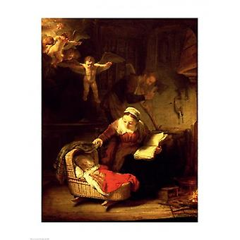 The Holy Family c1645 Poster Print by Rembrandt van Rijn