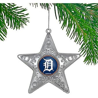 Detroit Tigers MLB Sports Collectors Series Silver Star Ornament