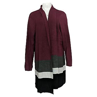 Belle By Kim Gravel Women's Sweater Long Sleeve Cardigan Red A367268