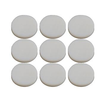 Trumpet Parts Finger Key Buttons White Shell Inlays 13.6mm Pack of 9