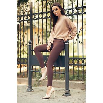 High Waisted Womens Full Length Soft Cotton Pant Lwp