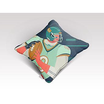 American football character cushion/pillow