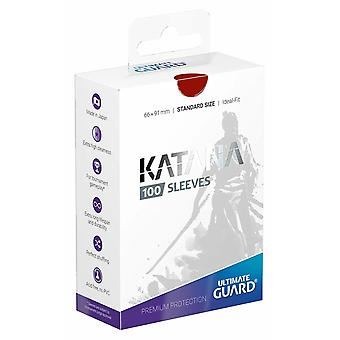 Ultimate Guard Katana Sleeves Red Standard Size (100) (66x91mm)
