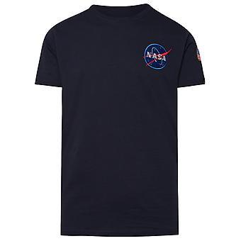 Alpha Industries 17650707 Heren's Blue Cotton T-shirt