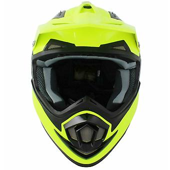 GSB XP-14B Motocross ATV Off-road helm Motorcross ATV Fluoro Yellow ACU Gold