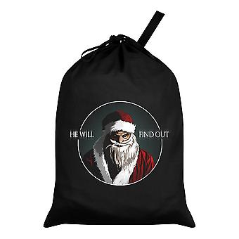 Grindstore He Will Find Out Santa Sack