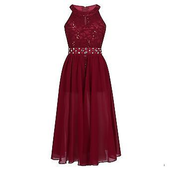 Girls Floral Lace Dresses, Pageant Formal Princess, First Communion Dress, Kids