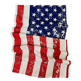 USA Flag Stars and Stripes Motorcycle Neck Tube Face Mask Scarf One Size