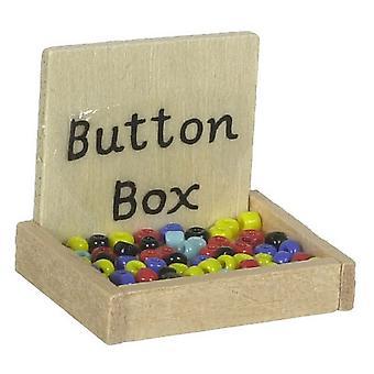 Dolls House Miniature 1:12 Couturières salle de couture Boutique Accessoire Button Box